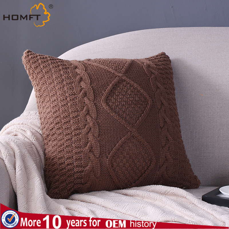 Wool Knitting Sofa Cushion Pillow