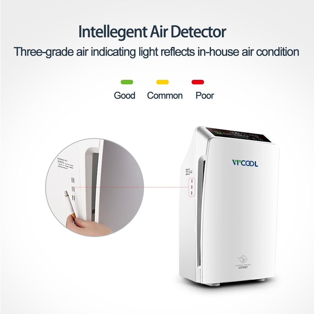 Floor Standing Air Purifier for Household Use
