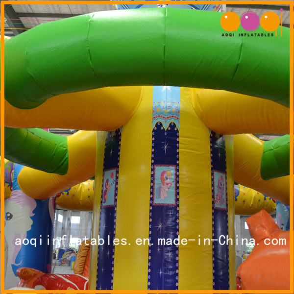 New Design Merry-Go-Round Bouncer Inflatable Catle for Kids (AQ01476)