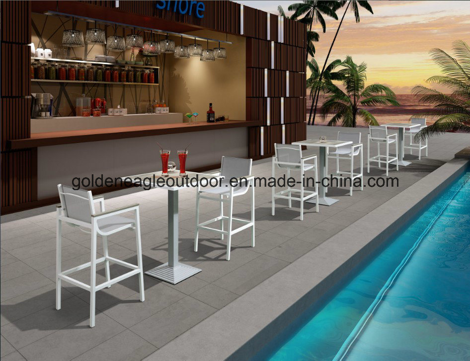 Plastic Wood and Aluminum Frame Outdoor Dining Furniture