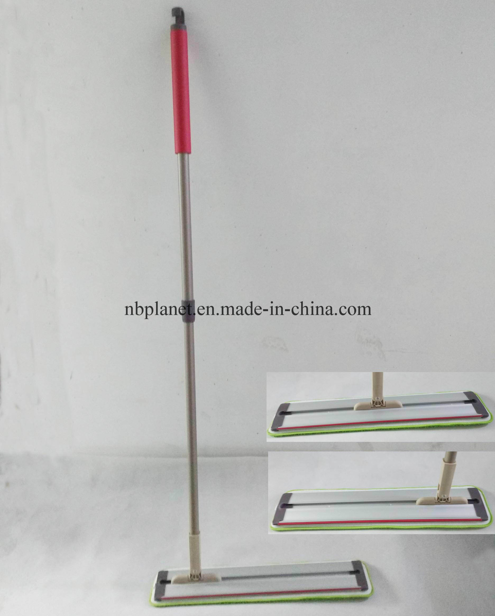Aluminum Board Flat Microfiber Mop with Movable Handle - New Design