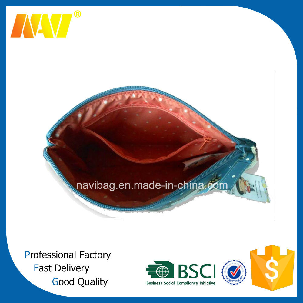 Digital All Sides Printing Genuine Leather Cosmetic Bag