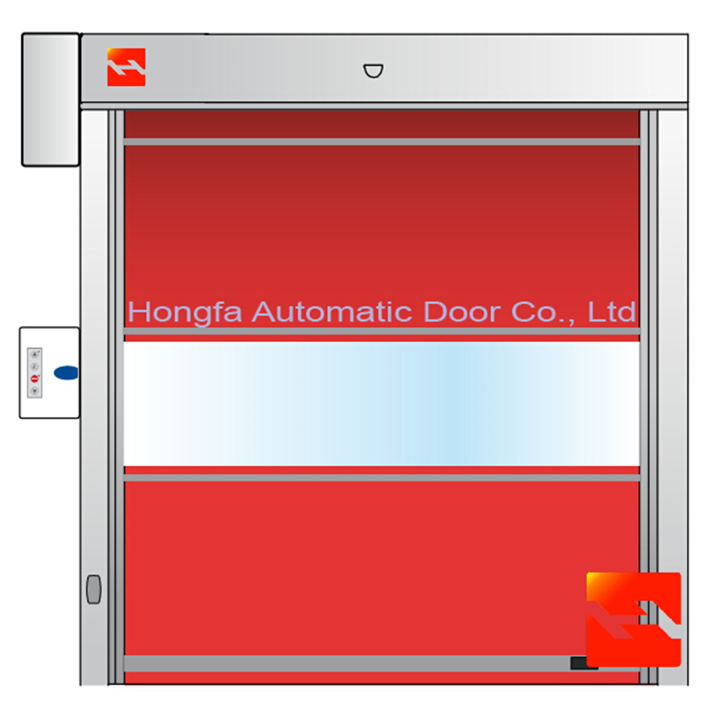 Automatic PVC Fabric High Speed Roller Shutter Door for Factory