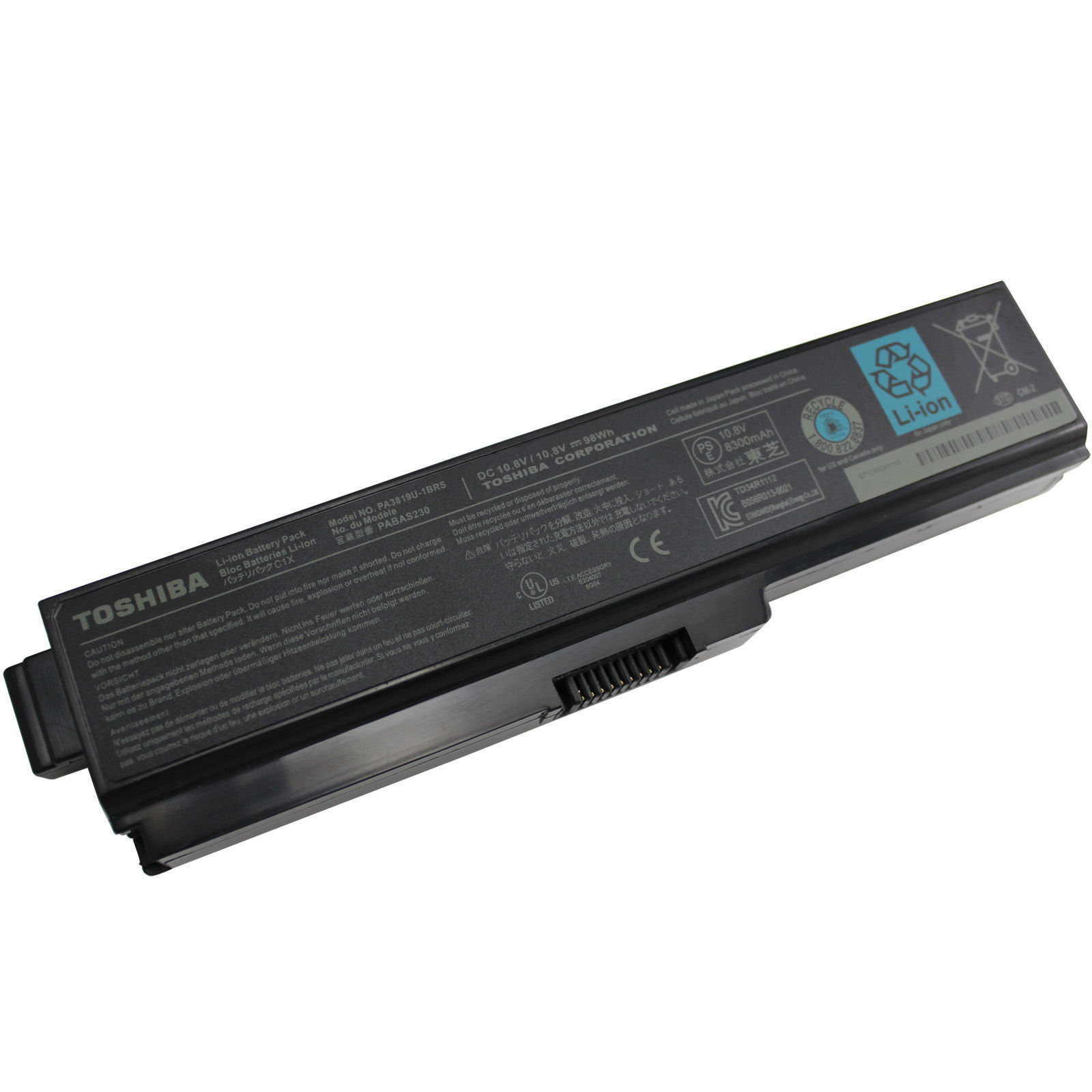 Hot- Sale Replacement Laptop Battery/Battery Charger/Li-ion Battery/Laptop Battery /Notebook Battery for Toshiba PA3817, PA3819, L600 L700 L630