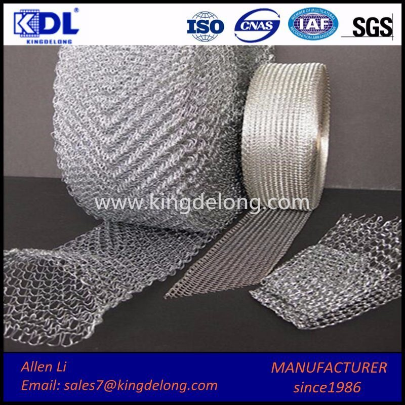 Factory Woven Wire Mesh/ Stainless Steel Knitted Filter Wire Mesh
