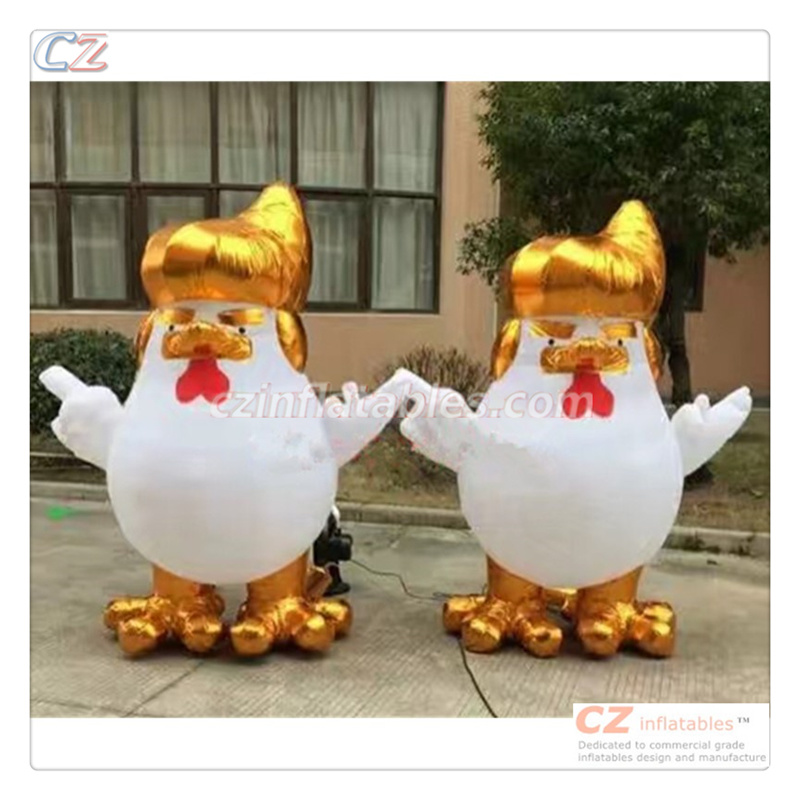 2017 Hot Sale New Popular Advertising Inflatable Trump Chicken Replica