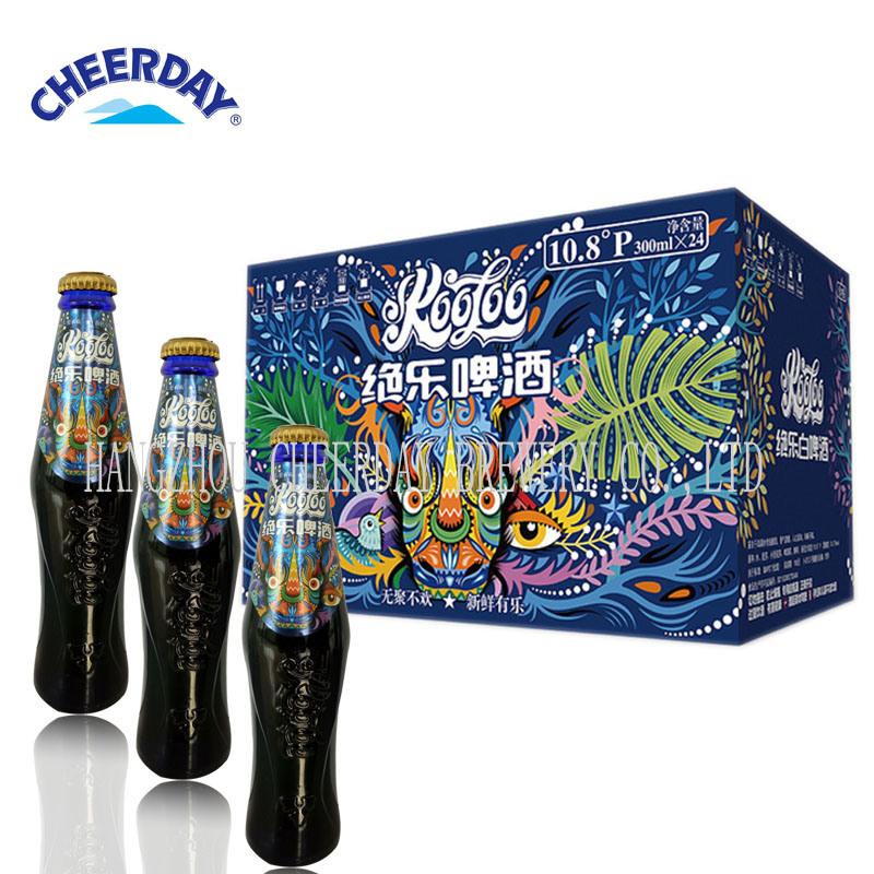 2017 Best-Selling OEM 300ml Abv 3.7% Barleywine Blue Glass Bottle Beer