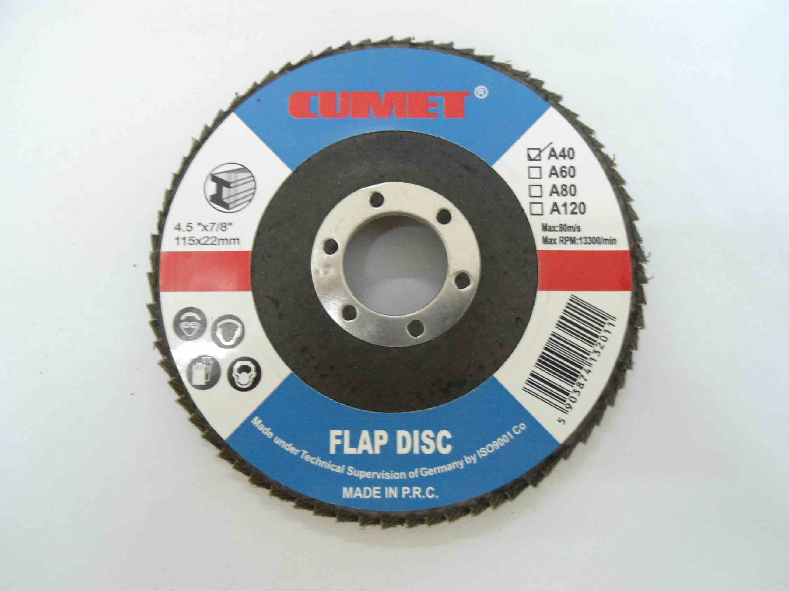 Flap Disc 115X40 Brown Fused Alumina