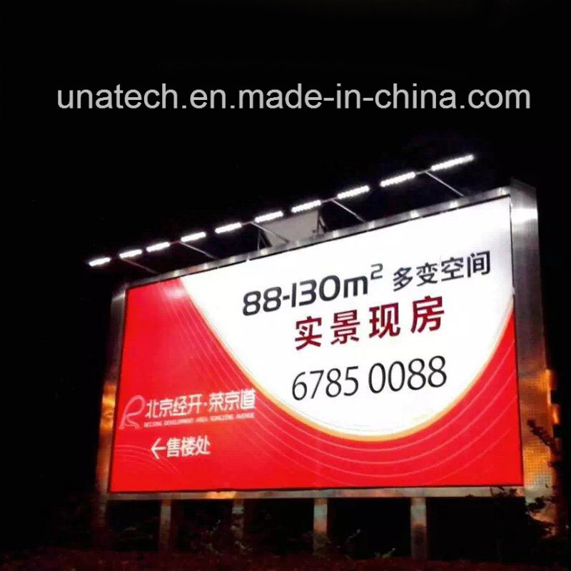 Solar Panel Outdoor Media Ads Billboard Signage Linear LED Advertising Light