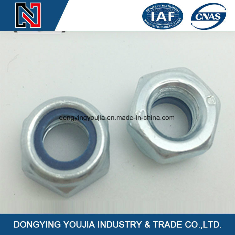 DIN985 Prevailing Torque Type Hexagon Nuts with Nonmetallic Insert