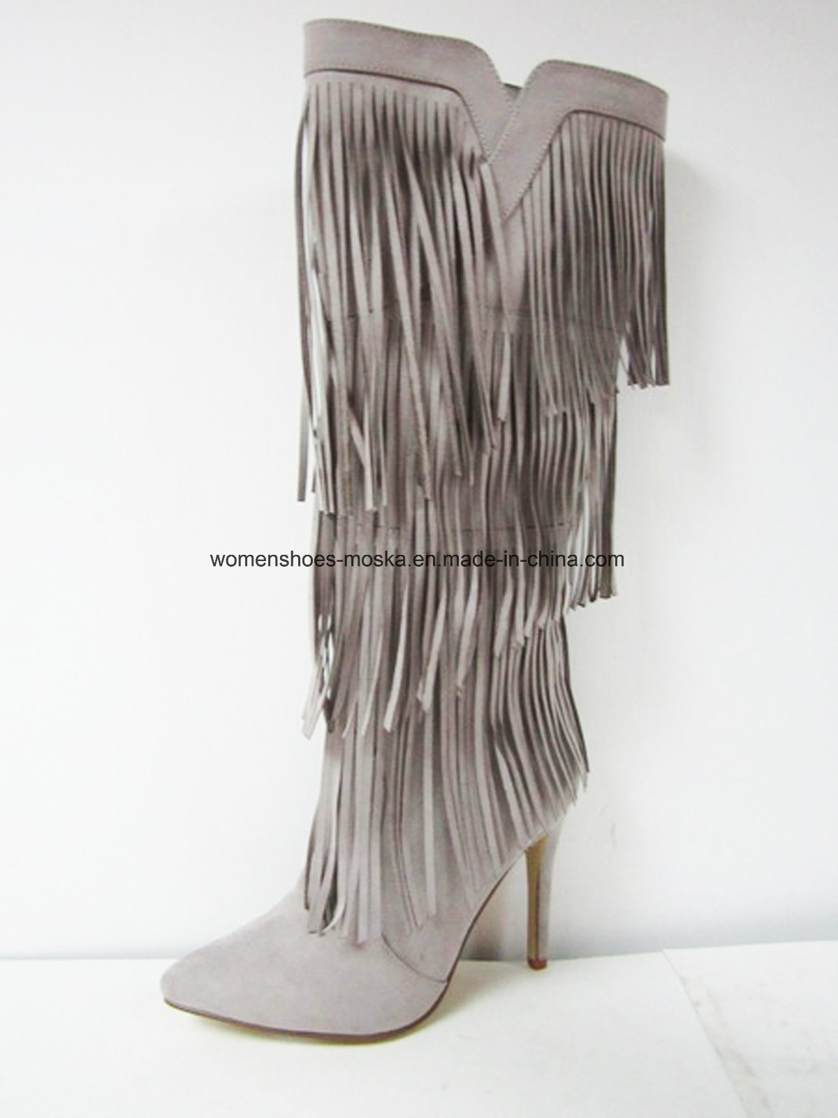 Lady Fashion High Heel Overknee Boots for Footwear