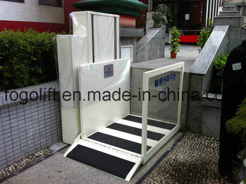 10m Electric Hydraulic Handicapped Home-Using Wheelchair Lift