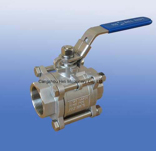 Stainless Steel Light 3PC Ball Valve 1000wog with Thread End
