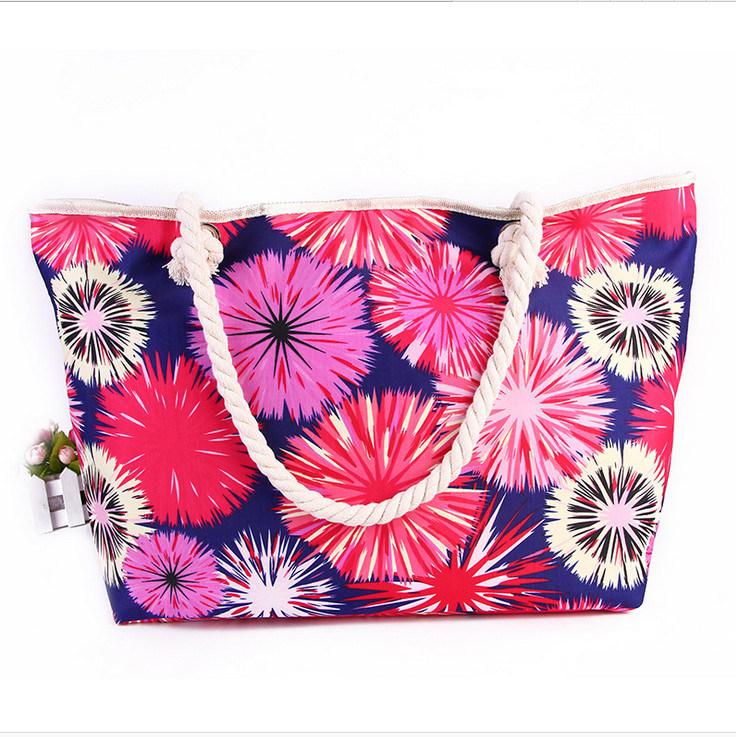 Shoulder Bag Handbags Colorful Sun Printing Beach Bag Trend of Handbags