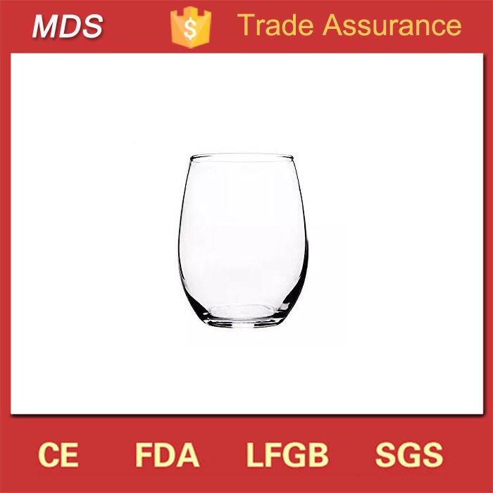 Custom Imprinted 21 Oz Glassware Stemless Wine Glass with Logo