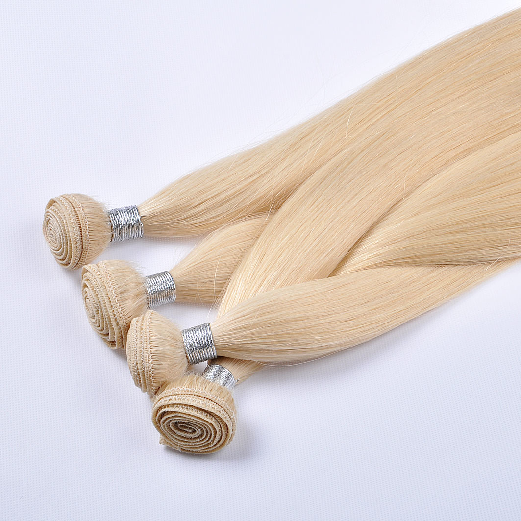 Double Drawn European Remy Human Hair machine Weft/Weaving