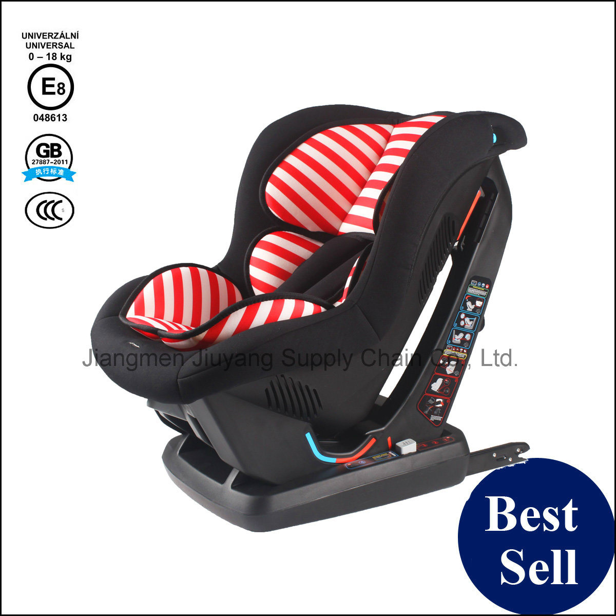 HDPE Frame Baby Safety Car Seat with ECE8 / 3c / GB Certification - Free Sample