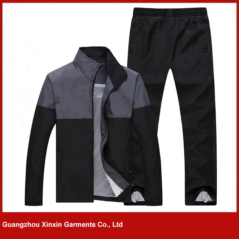2017 Latest Design Nylon Grey Sport Track Suits Wear for Men (T69)