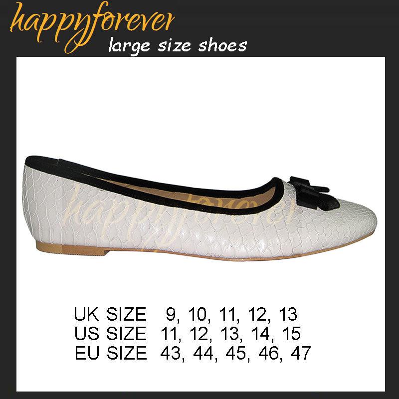 Toe Flats - Large Size Women Shoes (US11, 12, 13, 14, 15, UK9, 10