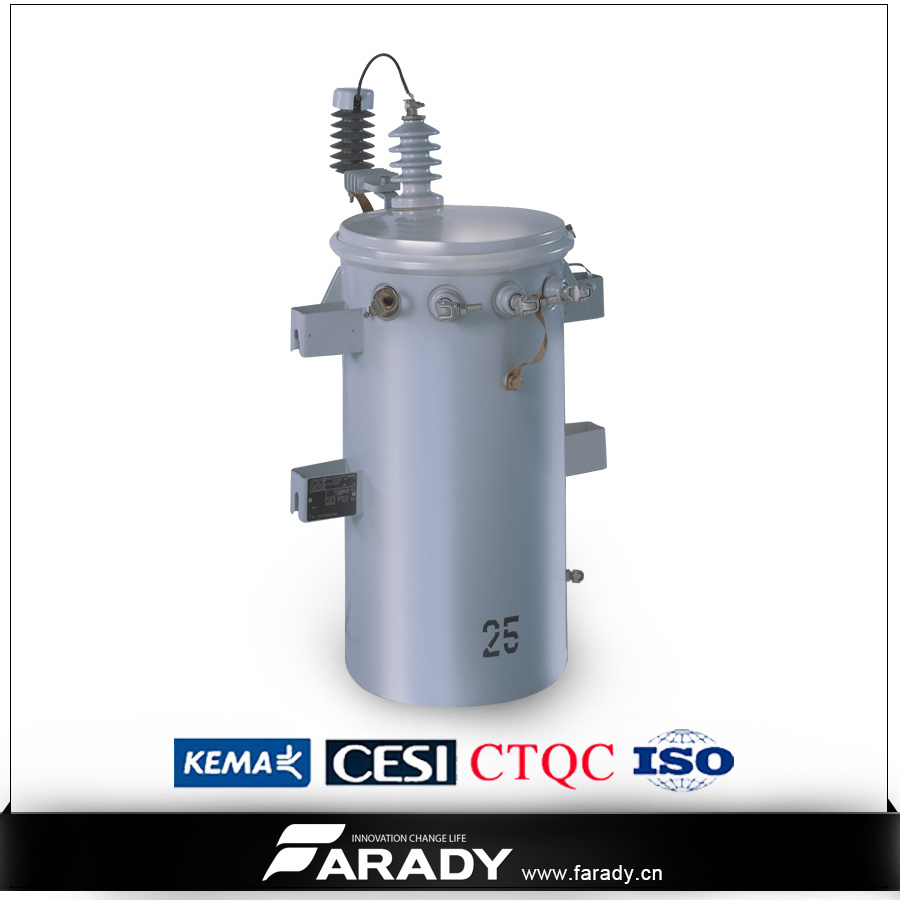 11kv 25kVA Oil Immsered Overhead Type Single Phase Power Distribution Csp Transformer Price