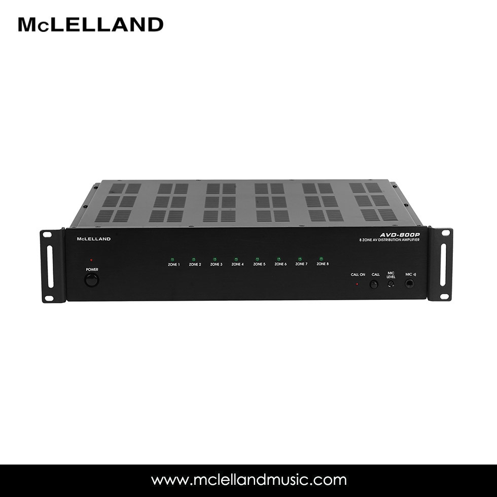 Mutil-Room Audio/Video Distribution Amplifier with 8 Sources (AVD-800P)