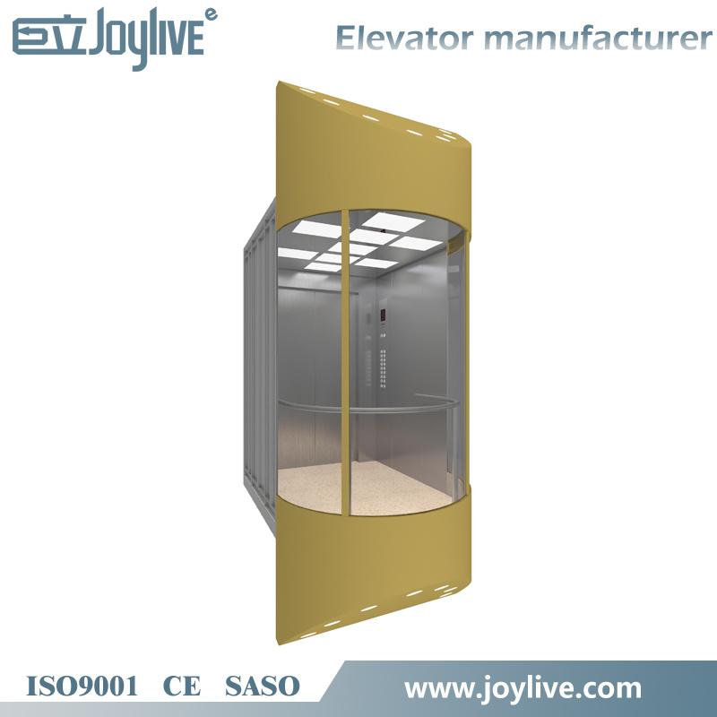 Joylive Panoramic Lift Elevator with Machine Room