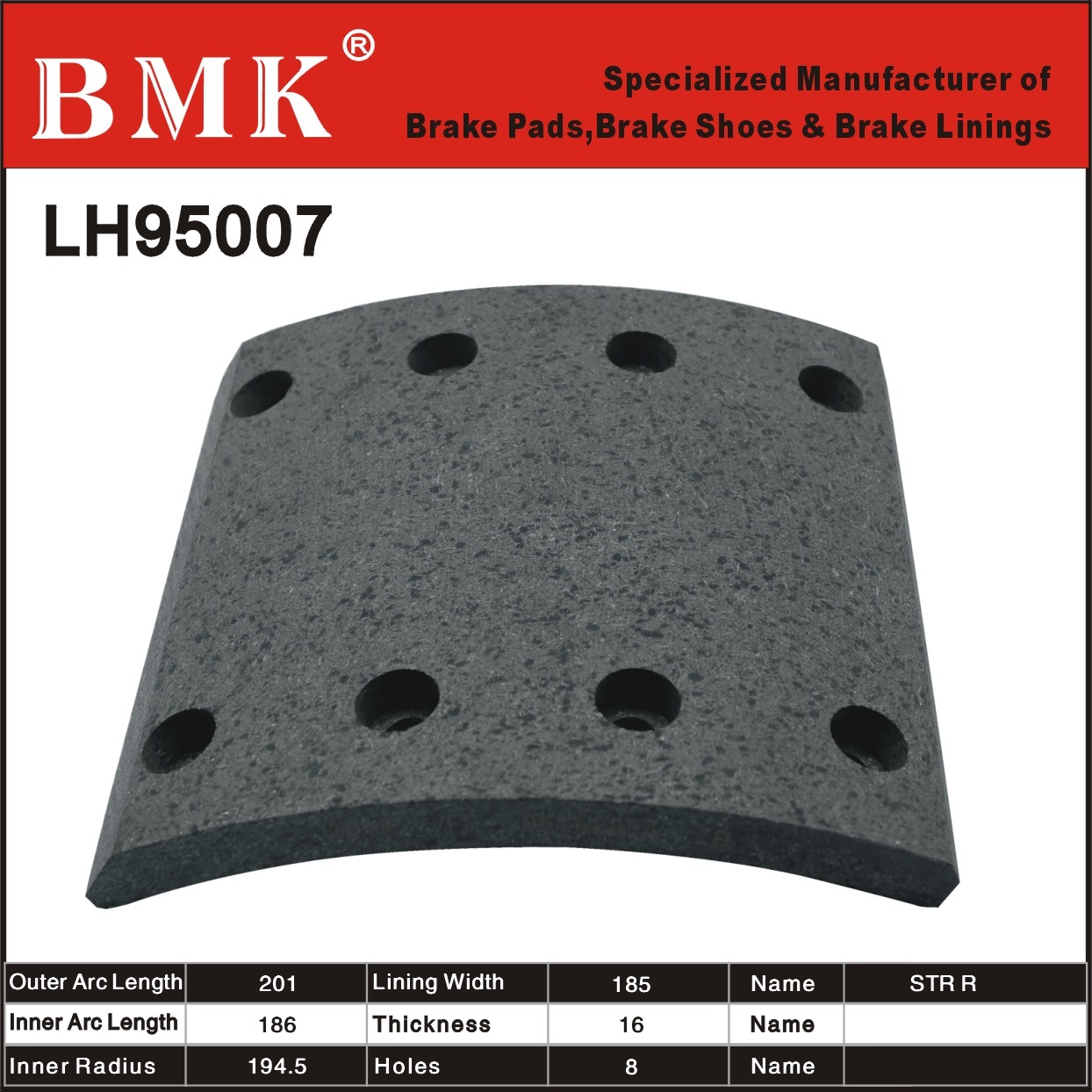 High Quality Brake Linings (LH95007)