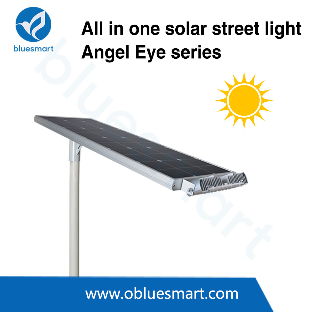 Integrated / All-in-One Solar Outdoor LED Street Garden Light with Adjustable Light Head