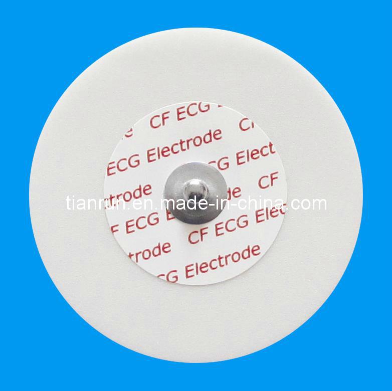 Disposable ECG Monitoring Electrode, PE Foam Backing, Dia. 55mm