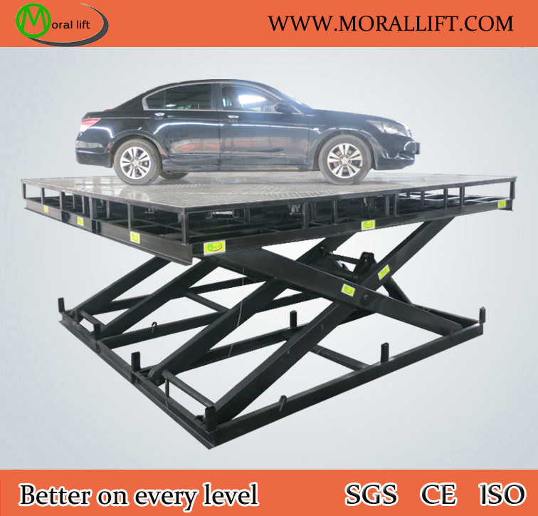 Scissor Car Lift with Revolving Turntable
