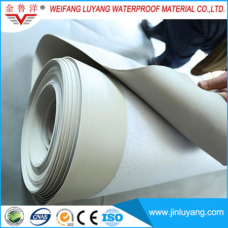 2mm PVC Waterproof Roofing Membrane with Fabric