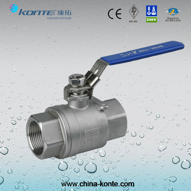 Stainless Steel Threaded 2PCS Ball Valve with Lock Device