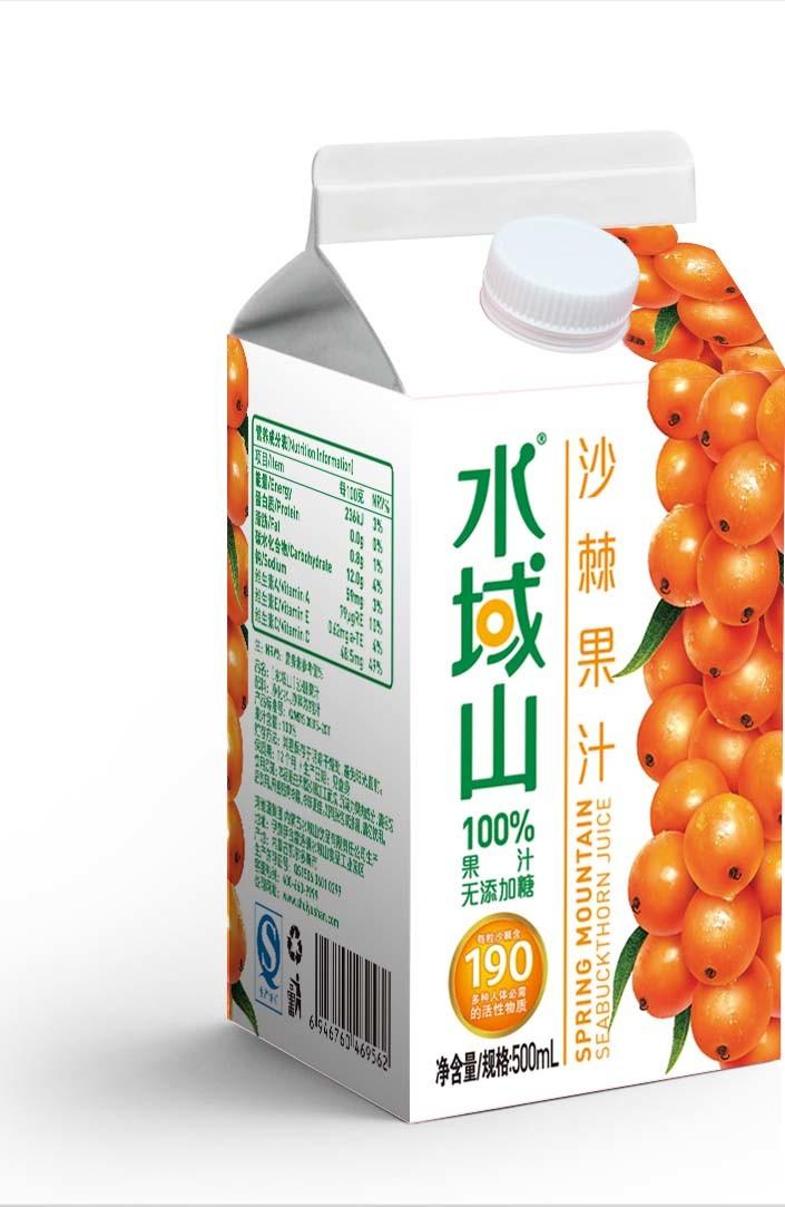Juice/Milk/Water/Cream/Wine Gable Top Carton/Box with Curve
