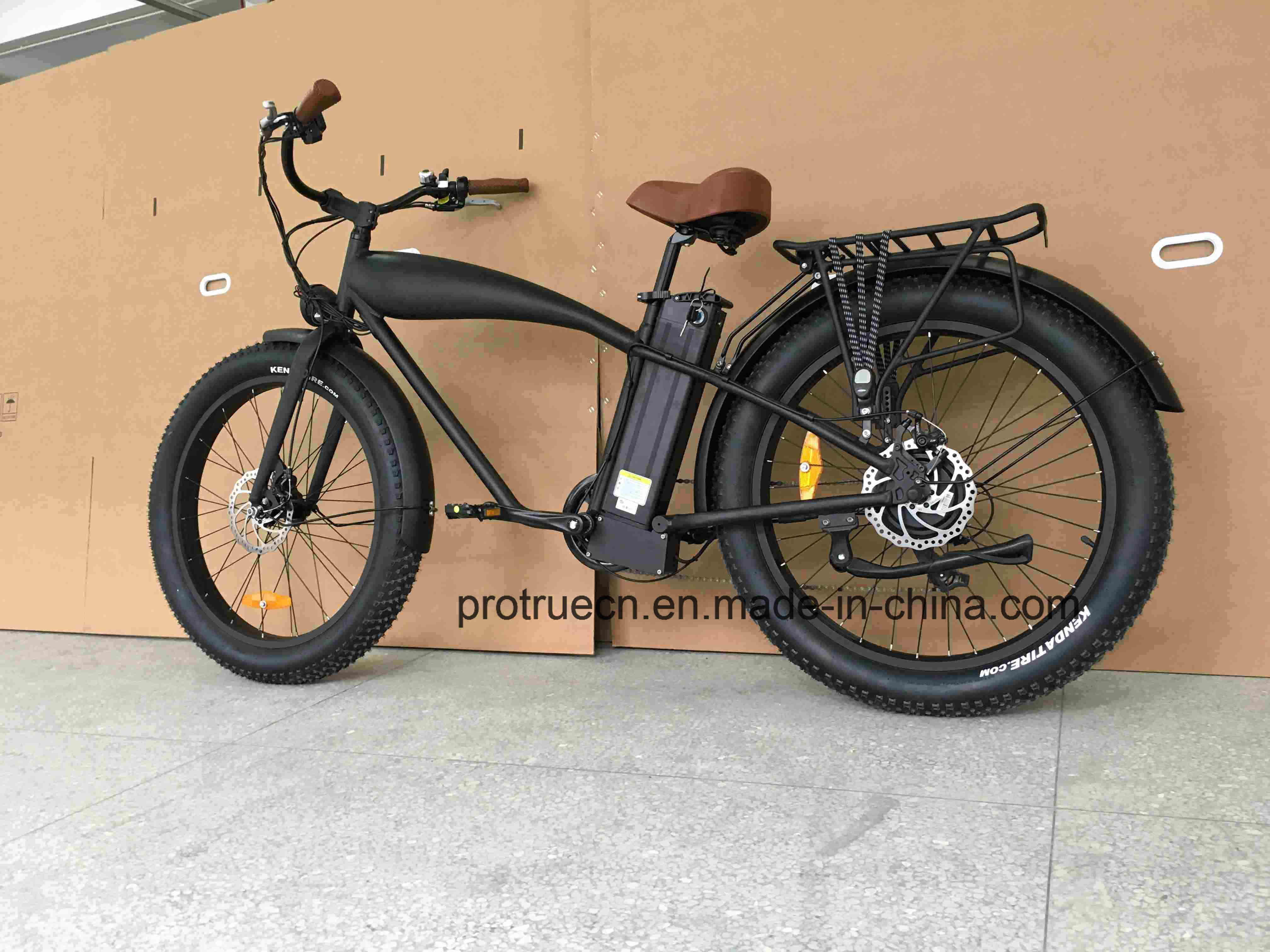 Retro Fat Tire Electric Bicycle with Rear 8fun Motor