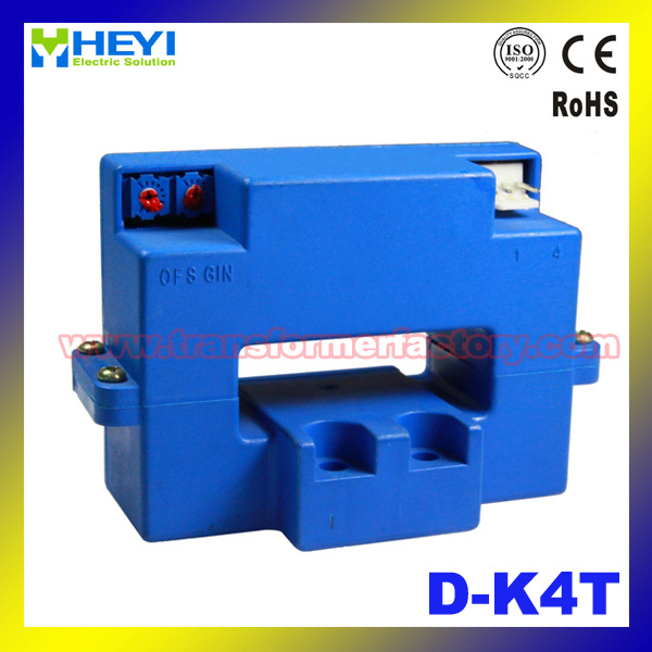 Clip on Current Sensor (D-K4T) Hall Effect Current Sensor Transducer