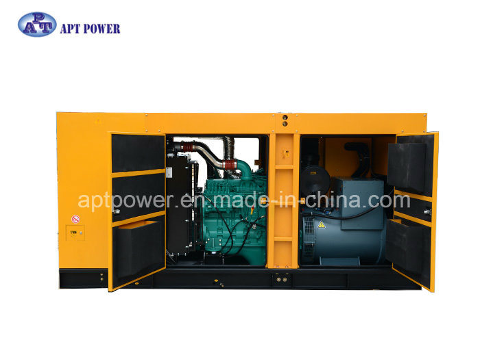 Industrial 300kw Soundproof Diesel Generator by Cummins Engine, Stamford Alternator