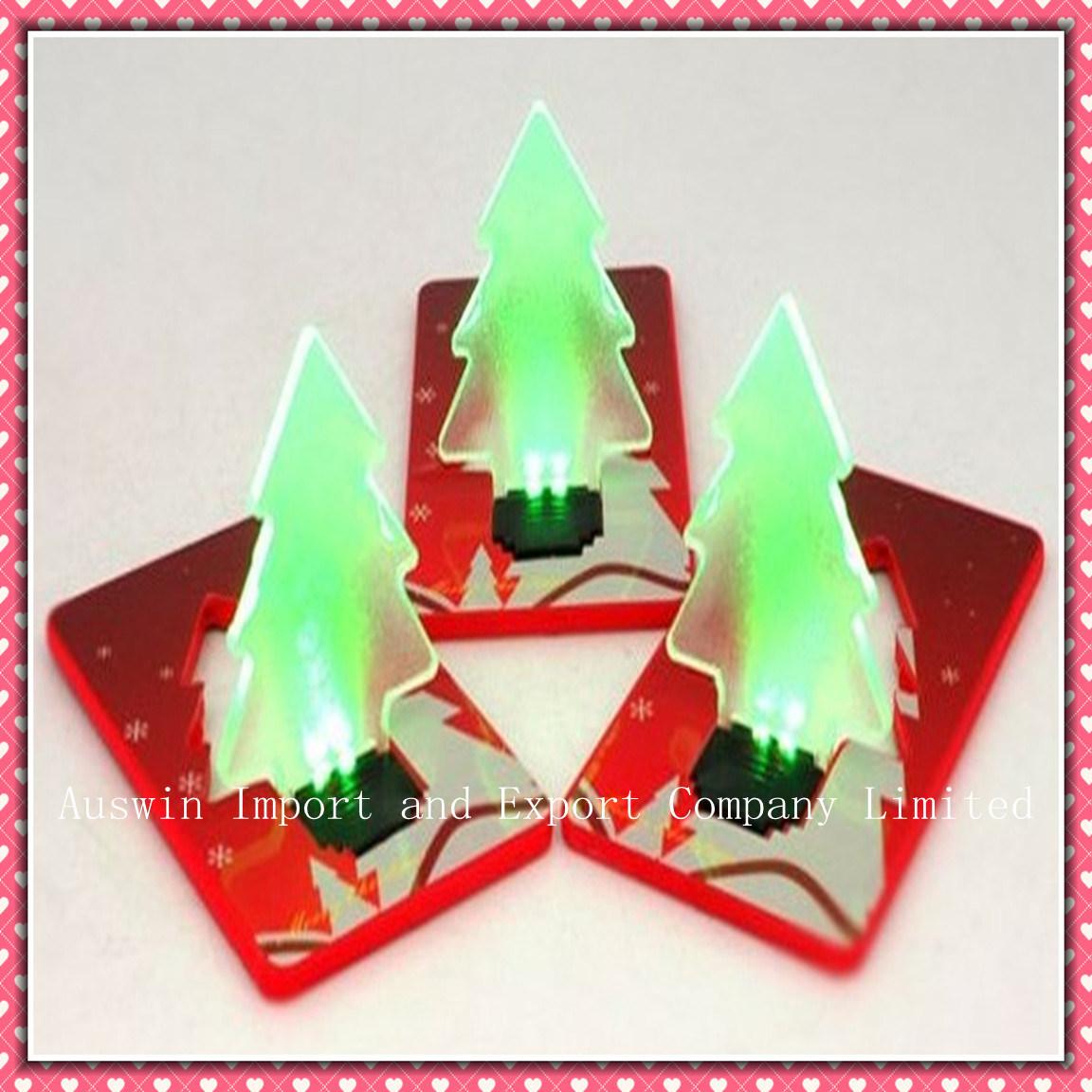 China led light christmas tree card decoration
