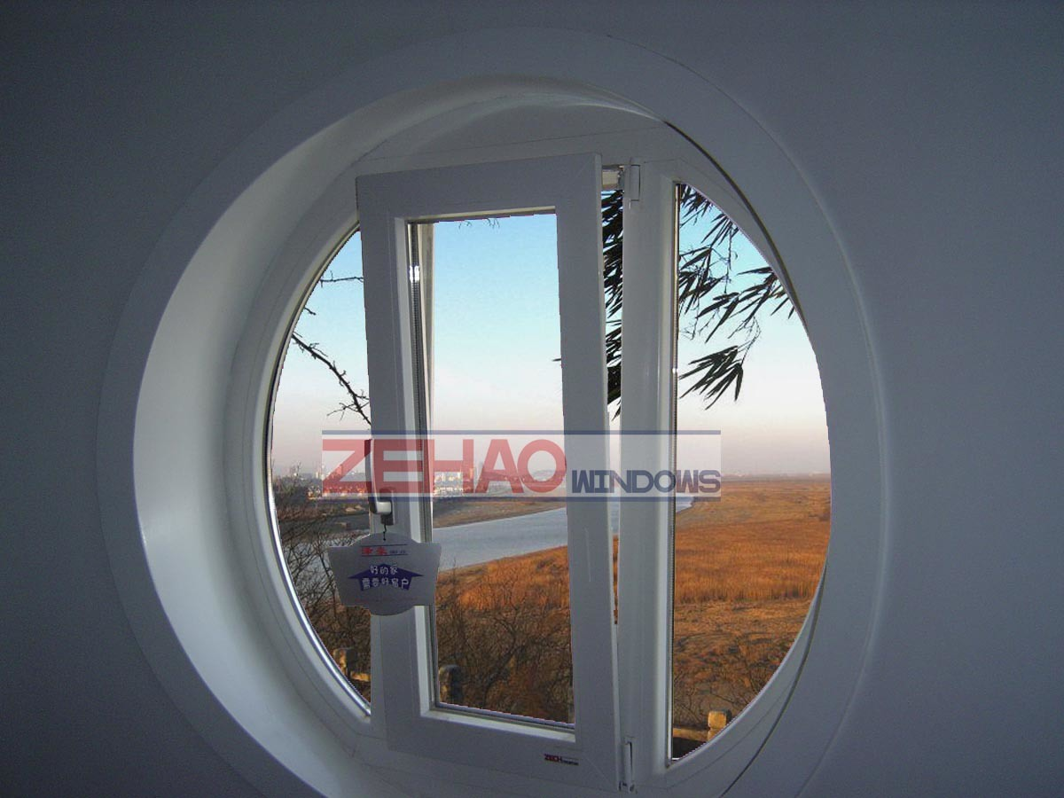china pvc turn and tilt windows round windows china