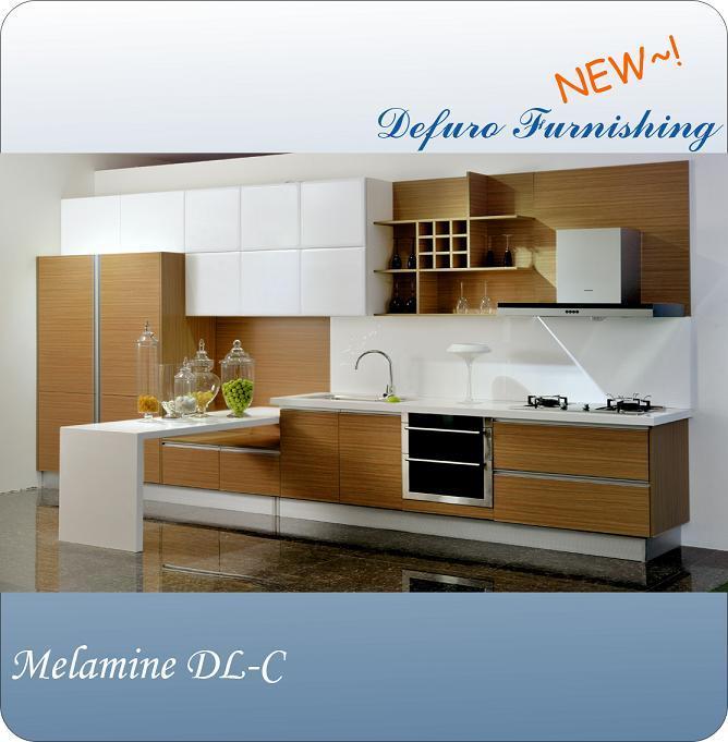 Melamine Kitchen Cabinet Door DL08202, black grain cabinet door