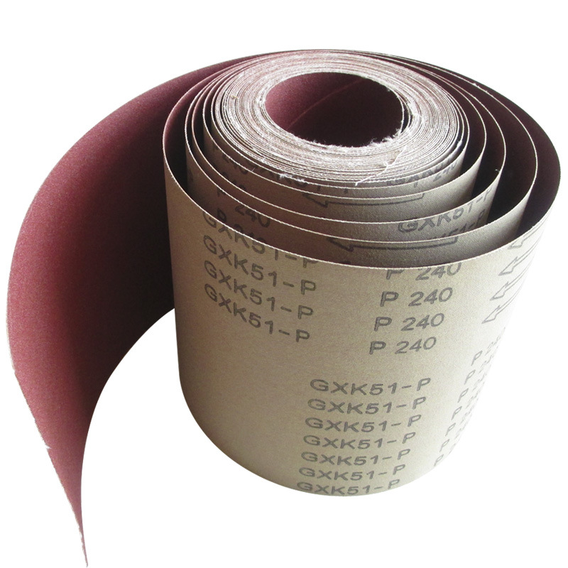 Coated Abrasive Cloth Roll Gxk51-P for Narrow Abrasive Roll