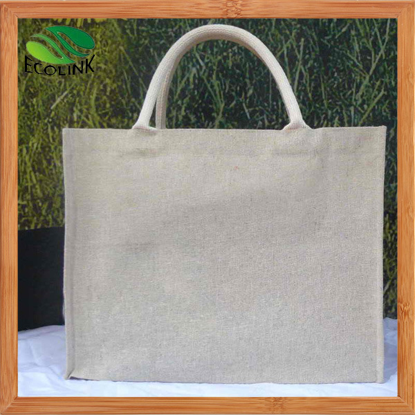 Promotional Jute Handle Bag for Shopping with Natural Color