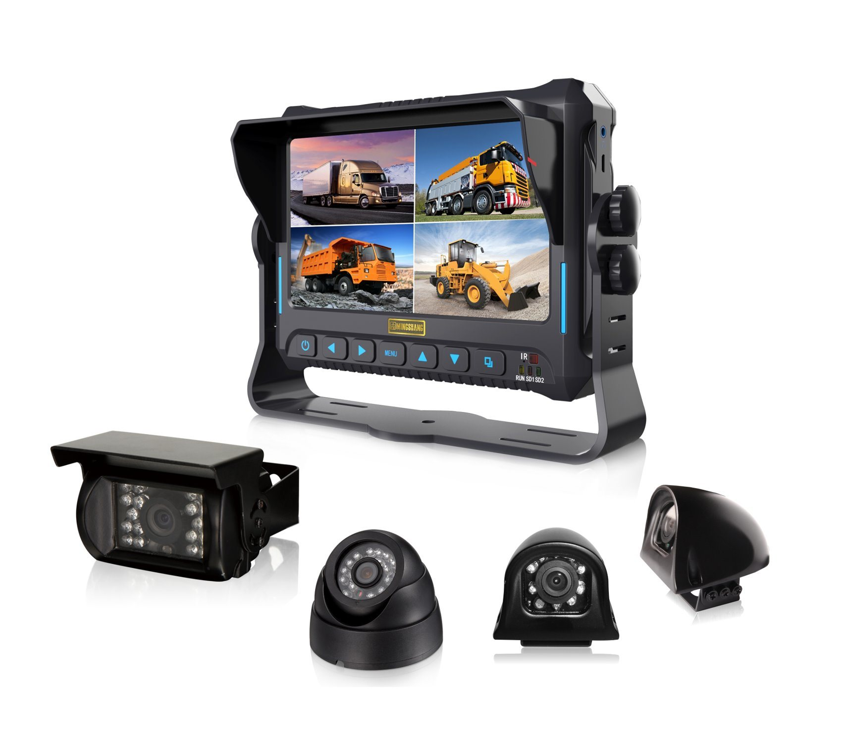 4CH 1080P Mobile DVR with 7 Inches HD Monitor