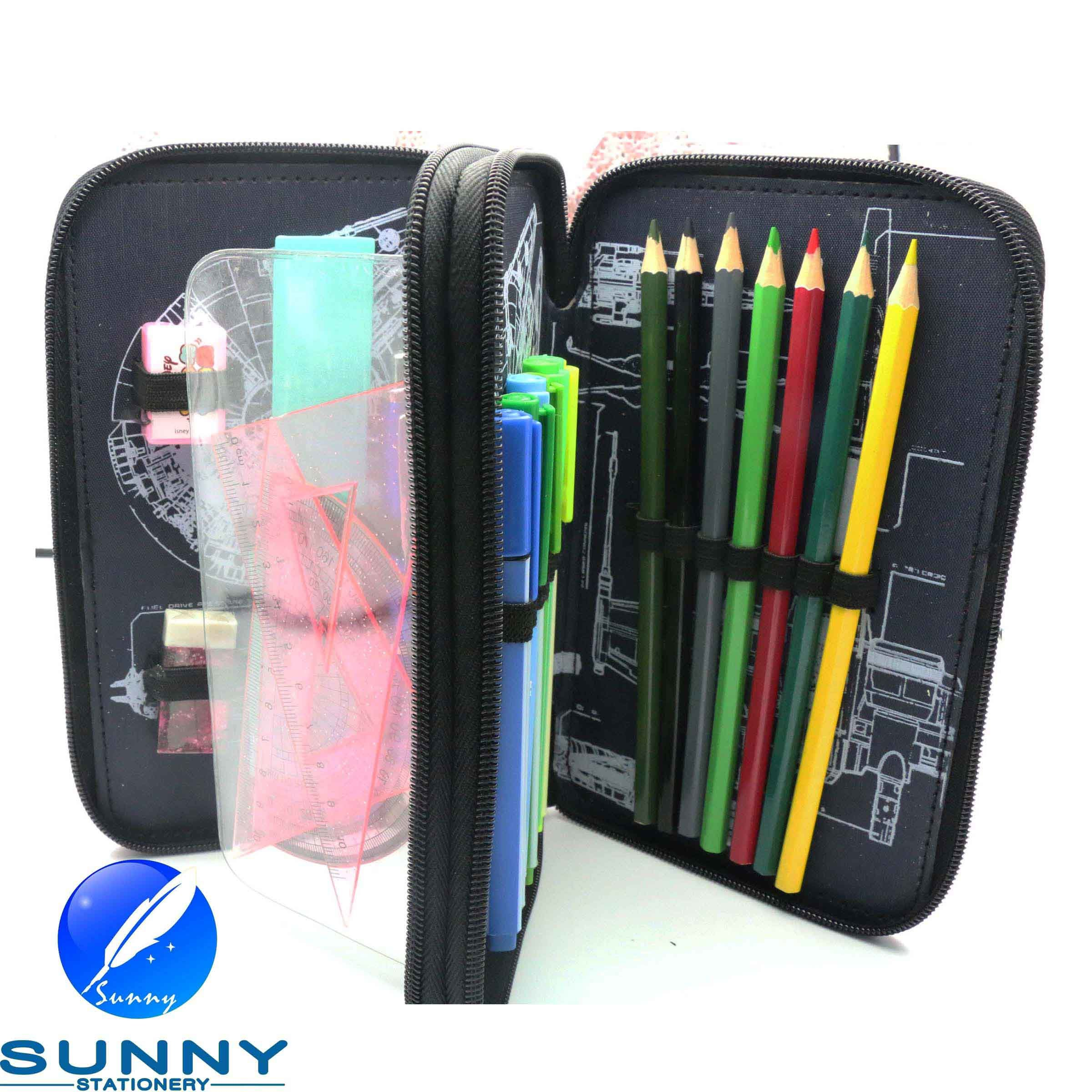 2 Tier Stationery Case for Children, Promotion Stationery Set
