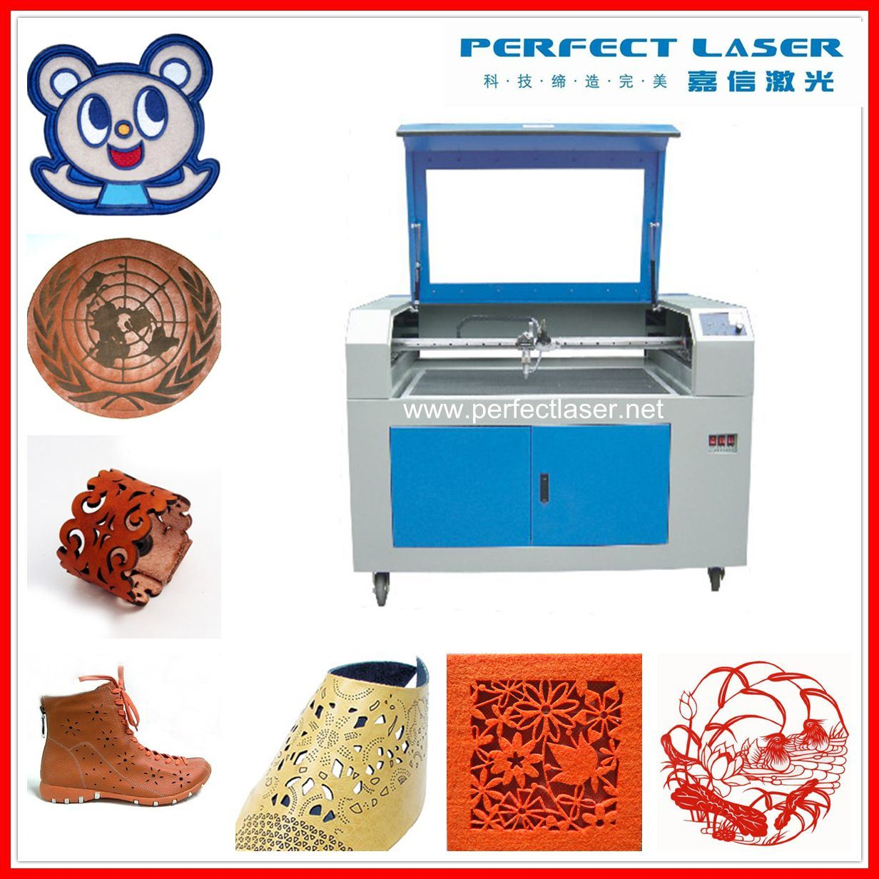 CO2 Engraving Machine for MDF Acrylic Wood PVC Engraver