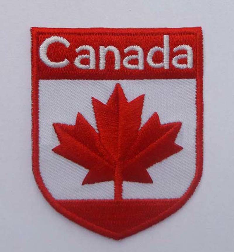 Canada Flag Embroidery Patch Country Logo Badge (GZHY-PATCH-001)