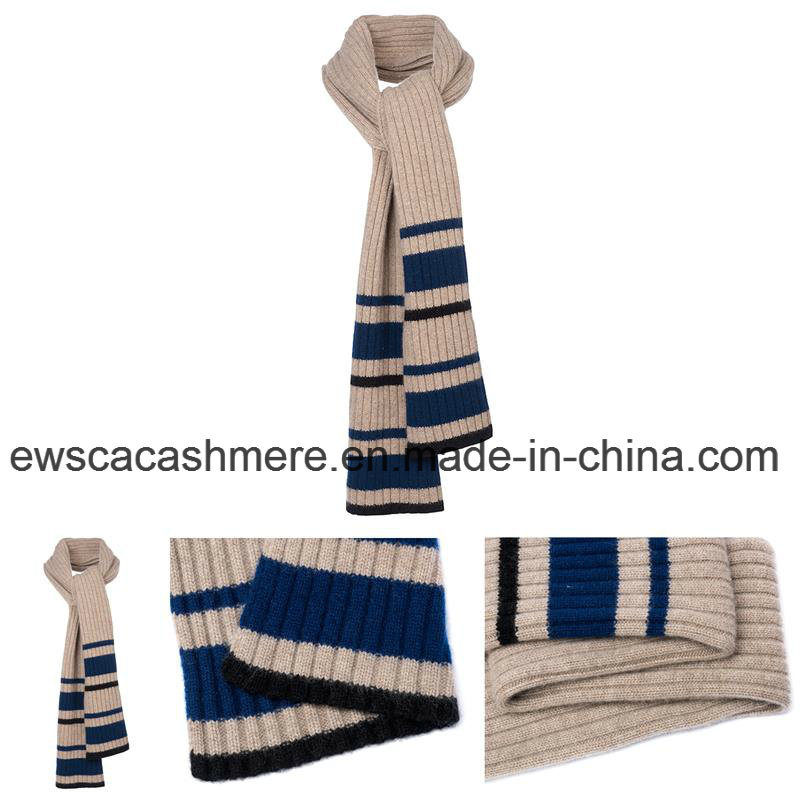 Stripe Patterns Winter Long Style Knitted Scarf