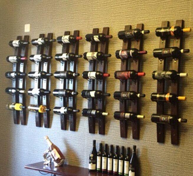 Iron Wood Wine Rack Bar Wine Rack Home Furniture Custom