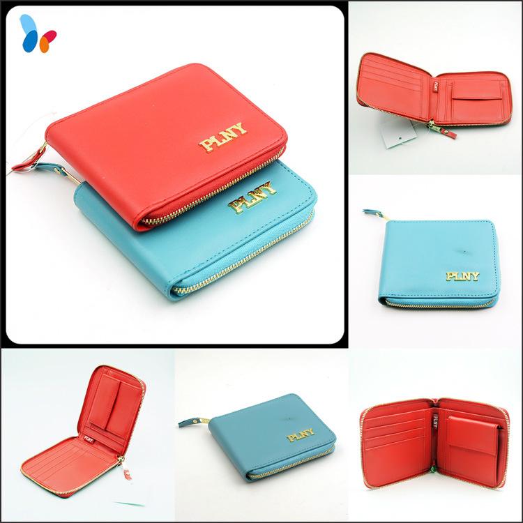 Custom 3D Logo PU Leather Wallet Card Holder Fashion Purse