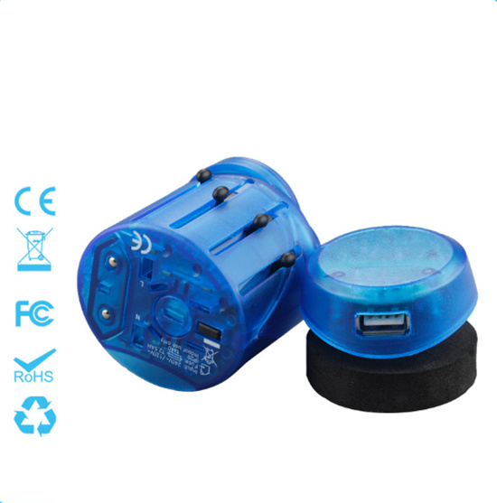 Universal Travel Adapter with Single USB Output