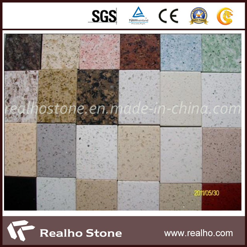 Colorful Polished Artificial Engineer Quartz Stone for Sale